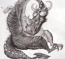 Sad Dragon by Elena Sedova