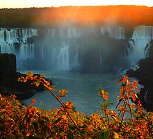 Sunset at Iguassy Falls by supergold