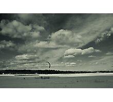 Kite snowboarding Photographic Print