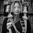 Akha Hill Tribe Girl by Glen Allison