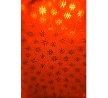 Red Snowflakes Photographic Print