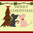 Kissing Christmas Mice by astonishann