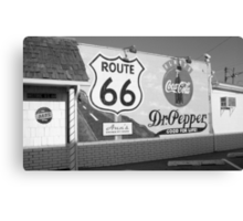 Route 66 - Mural with Shield Canvas Print