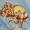 Hippopotamus On A Bicycle by Ellen Marcus