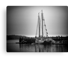 Sailboat at New Haven Pier Canvas Print