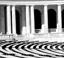 B&W Ampitheatre by ©  Paul W. Faust