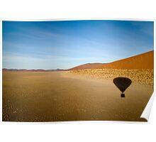 Balloon over namib Poster