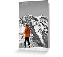 Reaching the Summit: Intrigue & Amazement Greeting Card