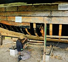MVP31 Repairing a Zees Boat, Germany. by David A. L. Davies