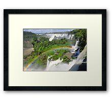 Rainbow at Iguasu Falls, Argentina Framed Print