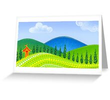 Rolling Green Hills Greeting Card