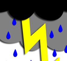 i love storms Sticker