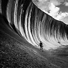 Wave Rock - B+W by Chris Paddick