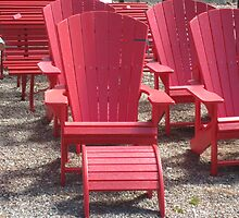 Red Summer Chairs by fionahoratio