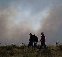 Burntree Brushfire 3/24/11  by Marijane  Moyer