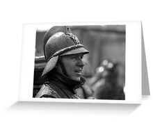 Portrait of a Bombero Greeting Card
