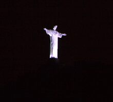 Cristo Redentor at Night by Carol Bock