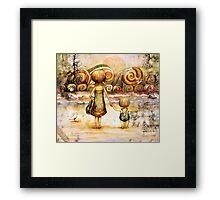 Beachcombers Sunrise Framed Print