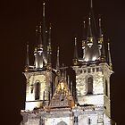 Tyn Church at Night by eegibson