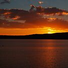 Sunset over Lake Taupo by Justine Armstrong