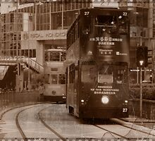 City Tram in Hong Kong by Rene Fuller