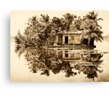 In the Backwaters Canvas Print