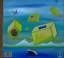 """The Yellow Box"" painting by Gianpiero Actis, Torino, Italy by immaginepoesia"