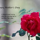 Happy Mother's Day - Red Rose by DebbieCHayes