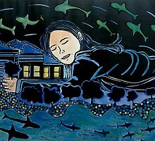 "After the Floods came the dreams by Belinda ""BillyLee"" NYE (Printmaker)"