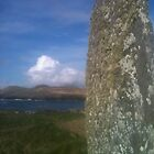 Celtic standing stone Valentia island Co. Kerry by timbuckley