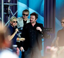 Ellen Degeneres and Simon from Duran Duran by Davidsdigits