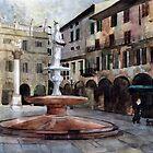 Piazza delle Erbe by Julia Shepeleva
