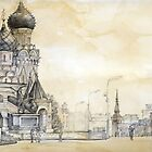 Red square in Moscow by Julia Shepeleva