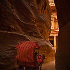 Horse and Cart through Petra, Jordan by Clint Burkinshaw