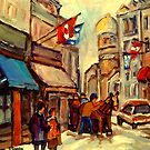 RUE ST. PAUL OLD MONTREAL by Carole  Spandau