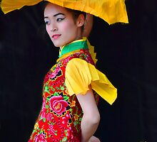 The Yellow Fan by Linda Cutche