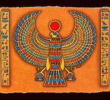 The Sun God Horus by merlynhawk