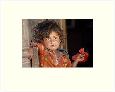 A young boy from Nepal  by Konstantinos Arvanitopoulos