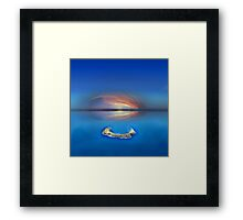 Sunset over Molokini in Hawaii Framed Print