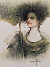 """Black Widow"" Pastel Pencil Drawing by Sara Moon"