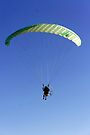 Para-Glider In Flight by Laurie Perry