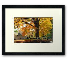 Connecticut Autumn Framed Print