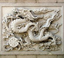Wall carving, Tianming Si, Changzhou, China by DaveLambert