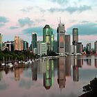 Brisbane River and City at dawn. Queensland, Australia.(8) by Ralph de Zilva