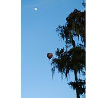 Floating on a moonlit afternoon Photographic Print
