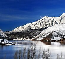 Deer Creek Reservoir - Mount Timpanogos Reflected by Ryan Houston