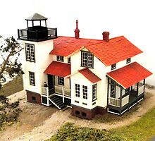 """Old Point San Luis Lighthouse - Scale Model"" by waddleudo"