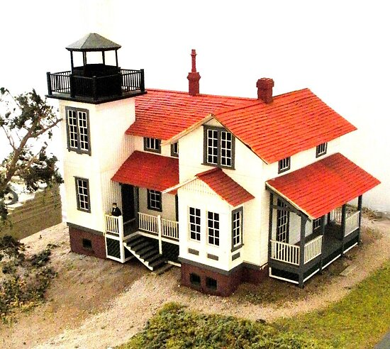 """""""Old Point San Luis Lighthouse - Scale Model"""" by waddleudo"""