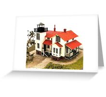 """Old Point San Luis Lighthouse - Scale Model"" Greeting Card"