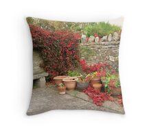 A peaceful corner Throw Pillow